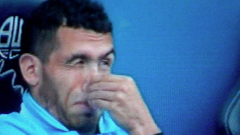 Carlos Tevez dumbfounded